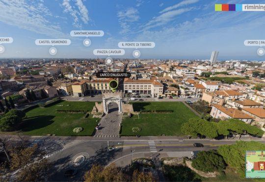 Rimini a 360 – Il virtual tour aereo della città realizzato per il Comune di Rimini