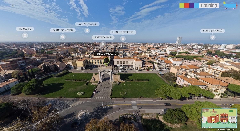 8752Rimini a 360 – Il virtual tour aereo della città realizzato per il Comune di Rimini